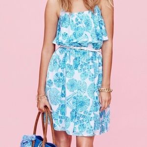 LILY PULITZER BLUE SEASHELL DRESS